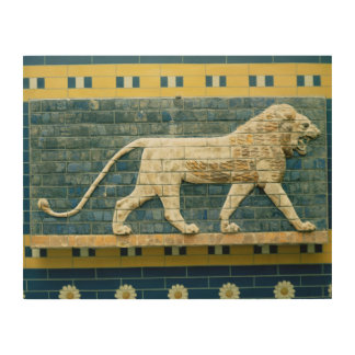 Lion representing Ishtar Wood Print
