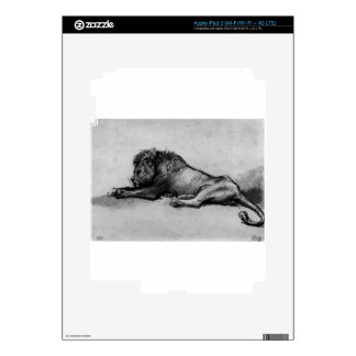 Lion resting by Rembrandt iPad 3 Skin