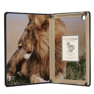 Lion resting in grass iPad mini retina case