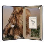 Lion resting in grass iPad mini cases