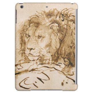 Lion Resting (pen and ink on paper) iPad Air Cover