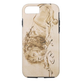 Lion Resting (pen and ink on paper) iPhone 8/7 Case