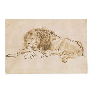 Lion Resting (pen and ink on paper) Placemat