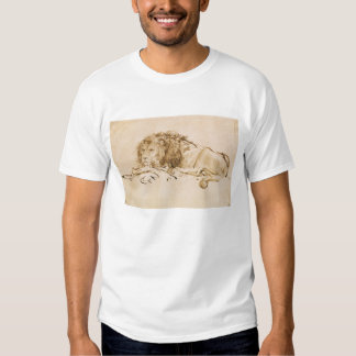 Lion Resting (pen and ink on paper) T Shirt