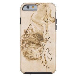 Lion Resting (pen and ink on paper) Tough iPhone 6 Case