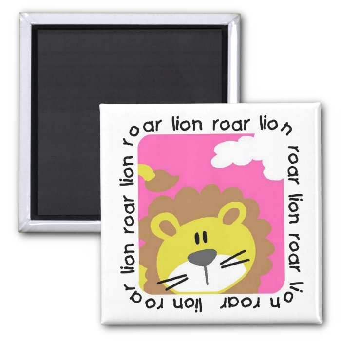 Lion Roar Tshirts and Gifts 2 Inch Square Magnet