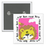 Lion Roar Tshirts and Gifts Pinback Buttons