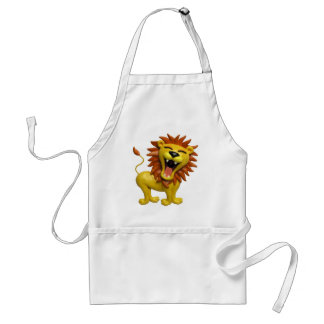 Lion Roaring Adult Apron