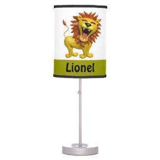 Lion Roaring Boy's Room Table Lamp