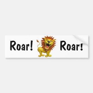 Lion Roaring Bumper Sticker