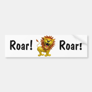 Lion Roaring Bumper Stickers