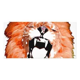 Lion Roaring Card