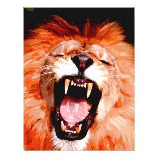 Lion Roaring Full Color Flyer
