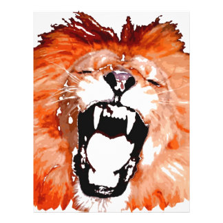 Lion Roaring Flyer Design