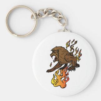 Lion Roaring Key Chain
