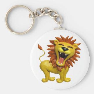 Lion Roaring Keychain