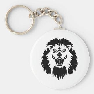 Lion roaring key chains
