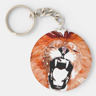 Lion Roaring Keychains