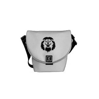 Lion roaring courier bags