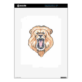LION ROARING DECALS FOR iPad 2