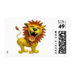 Lion Roaring Stamp