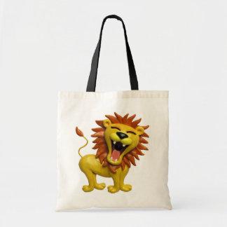 Lion Roaring Tote Bag