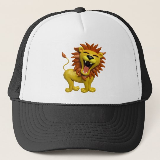 Lion Roaring Trucker Hat