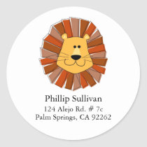 Lion Round Address Labels