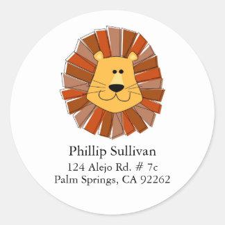 Lion Round Address Labels Classic Round Sticker
