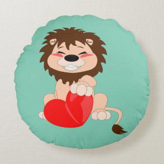 """Lion - Round Throw Pillow (16"""")"""