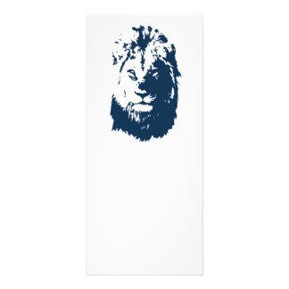 Lion's face rack card