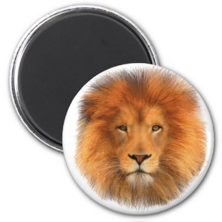 Lion's Mane 2 Inch Round Magnet