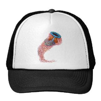 Lion's mane jellyfish trucker hat