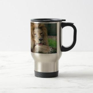 Lion Safari Cute African Classy 15 Oz Stainless Steel Travel Mug