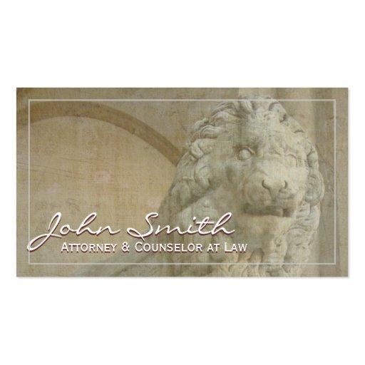 Lion Sculpture Attorney/Laywer Business Card