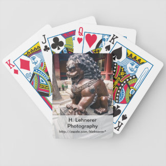 Lion Sculpture Bicycle Playing Cards