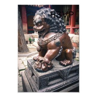 Lion Sculpture Card