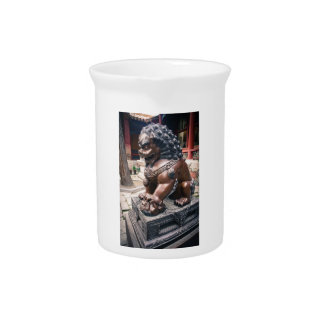 Lion Sculpture Drink Pitcher