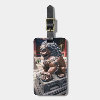 Lion Sculpture Luggage Tag