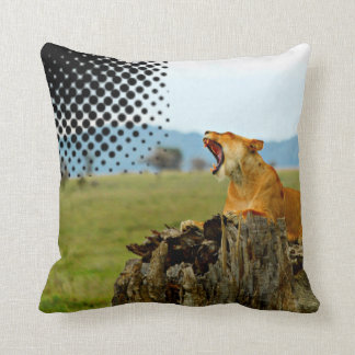 Lion Serengeti Pillow by Sajjad Sherally Fazel