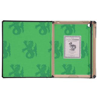 Lion Serpent Greens iPad Folio Case