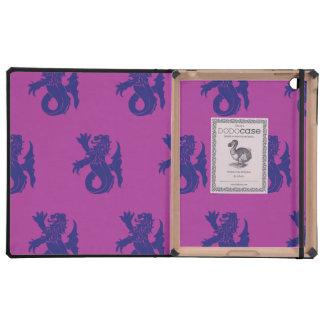Lion Serpent Purple Magenta iPad Folio Case