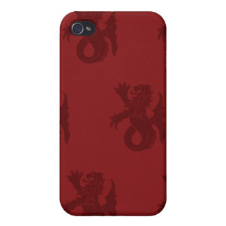 Lion Serpent Reds Cases For iPhone 4