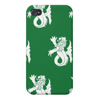 Lion Serpent White Green iPhone 4 Covers