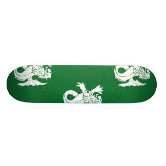 Lion Serpent White Green Skate Boards