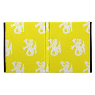 Lion Serpent White Yellow iPad Folio Covers