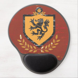 Lion Shield Coat of Arms Grunge Design Gel Mouse Pad