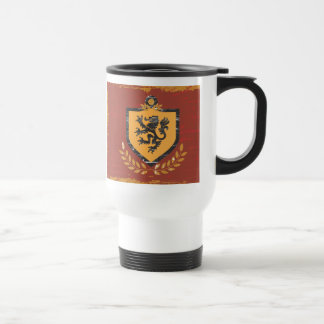 Lion Shield Coat of Arms Grunge Design Coffee Mugs