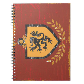 Lion Shield Coat of Arms Grunge Design Note Books