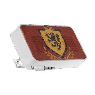 Lion Shield Coat of Arms Grunge Design Travelling Speaker